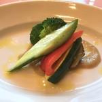 78368431 - 季節野菜のアンチョビソース