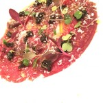 78368841 - 足寄桜肉のカルパッチョ キャビアとパルメザンチーズ