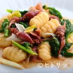 PINZO - 春らしさ満載『レモンのニョッキ 菜の花のアンチョビ風味』
