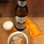 78373867 - ビール大瓶と塩煮込み