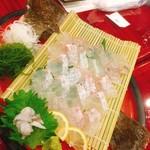 味の波止場 - ヒラメ刺し(^^)