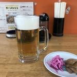 ラーメン55 - 生ビール