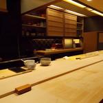 寿司 中川 - 店内 カウンター