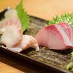 おやき SiSiMARU - [左から]甘鯛/蛸/鰤