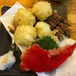 魚輝水産 - 白子の天ぷら