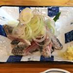 Yottekebakimmarusakaba - いわし刺し150円