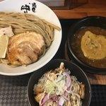 麺匠 中うえ  - つけ麺L(*´ω`*)チャーシュー丼