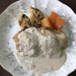 レストラン美咲亭 - 私の1/2真鯛のバターソテー、1/2のハンバーグ写真が無い(泣)