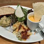 北浜バールこにし - 前菜3種とサラダ、パン