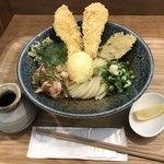 ウドン アン - 料理写真:とり玉天ぶっかけ850円(税込)