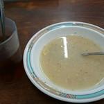 ハイウェイドライブイン - メニュー調理が出る前に持参されたスープです