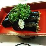 竹老園 - そば寿司(税込700円)