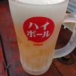 ハイカラ - 生ビール グラスも凍ってます