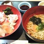 78395091 - 海鮮丼と小うどんのセット 1480円 税別