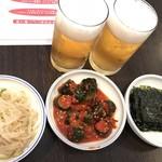 スントゥブ オッキー - 料理写真:この3種のお惣菜が食べ放題
