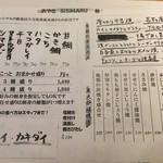 おやき SiSiMARU - メニュー(フード その1)