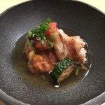 お気軽和食 CLOUD9 - お料理4000円のコース ④海老しんじょとカサゴの唐揚げ