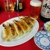 大羊飯店 - 料理写真:餃子&びあ