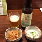 78402108 - お通しと地ビール(神都ビール)