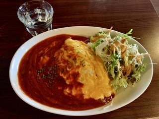 Cafe dininig R,s - オムライス(¥900) 本日のソース:デミチーズソース