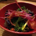 六本木 きわみ鶏 - 季節野菜の和風サラダ