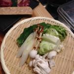 六本木 きわみ鶏 - お鍋のお野菜