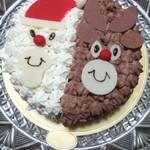 コム・アン・プロヴァンス - サンタさんとトナカイのケーキ♪