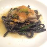 トスカネリア - 牡蠣と九条ネギのカラスミパスタ