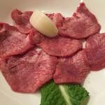 平城園 - まずはタン塩です、薄くて柔らかい肉でした