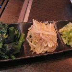 Yakiniku TAIGA - ナムル3種盛り