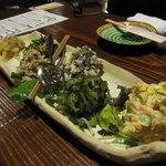 居酒屋 まんま - 卯の花、ポテサラ、ゴーヤのおひたしなどオードブル