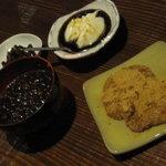 居酒屋 まんま - マスカルポーネの黒蜜かけ、ぜんざい、黄粉もち
