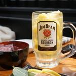 炭火焼肉ぐら - スーパー冷凍レモンハイ