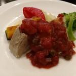 78411248 - 豚バラ肉煮込み、トマトケイパーソース