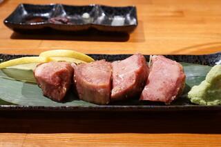 炭火焼肉ぐら 仙台朝市駅前店 - 牛タン・・サシがしっかりと入ったタン元