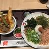 門左衛門 - 料理写真:【梅おろしそば+ミニ天丼…842円+453円】♫2017/11