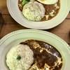 てまりのおうち - 料理写真:ハッシュドビーフ&目玉焼きのっけキーマカレー