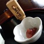 お食事処 つくし - 練り梅と黒七味です。