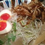 鶏Soba 座銀 - 煮干し吟醸nigori+味タマ♪
