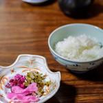 湯どうふ 竹むら - 御飯、香の物