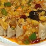 78419526 - 莜麺栲栳栳餡掛け (ユウミェンカオラオラオ)                       山西的せいろ蒸しそばの餡掛け