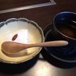 赤坂うまや - デザート(杏仁豆腐)