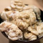 うを徳 - 2017.12 海の生クリーム丼(雲子、トラフグ白子、牡蠣、追加でバフンウニも)