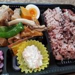 2丁目SOZAI - 豚肉の煮物弁当(黒米)