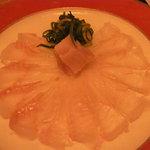 Bar MICHIya - 松皮カレイのうす造り