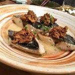 粋季 - 鰆の鯖味噌 蕪のスープ