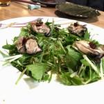 粋季 - 焼き牡蠣サラダ 梅昆布のせ