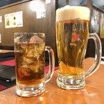 焼肉のすゞき - 烏龍茶と生ビール大