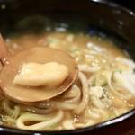 めんつるび - 和風だしが効いたコクのあるスープ