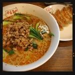 翠葉 - 坦々麺餃子セット 1050円